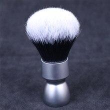 Yaqi brosse de rasage pour hommes, poils synthétiques avec manche en métal lourd, brosse de rasage à nœud