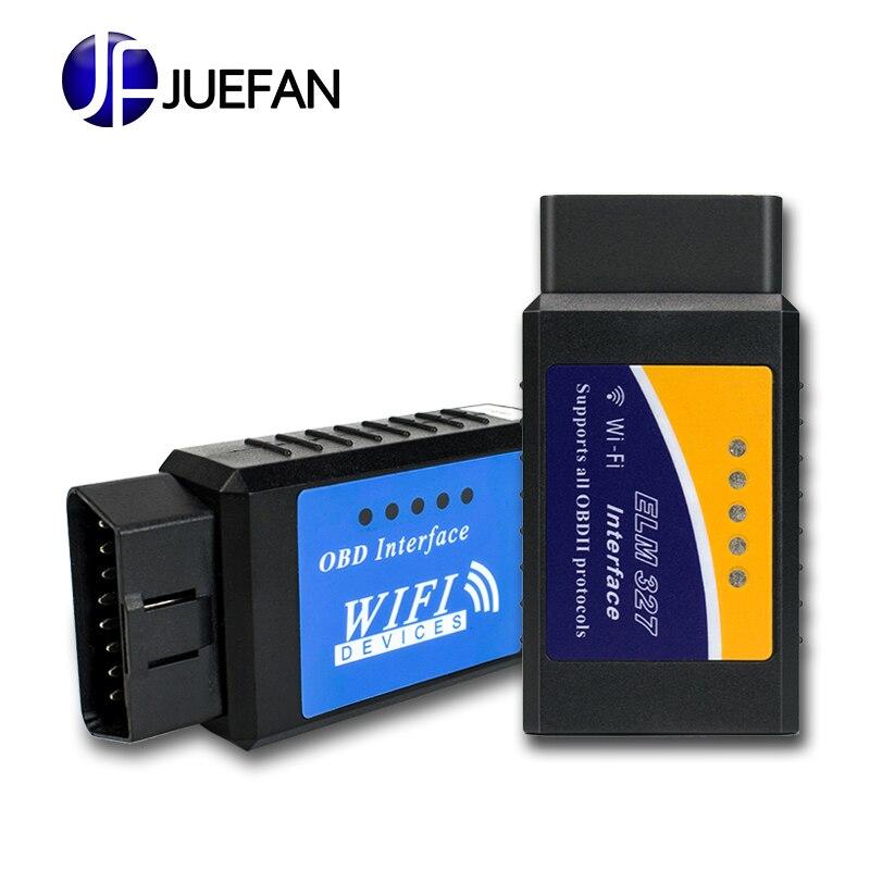 Caldo! Ultima Versione ELM327 WIFI OBD2/OBDII Auto Diagnostica Scanner Tool ELM 327 WiFi libera la nave wifi obd2 elm327 wifi elm327