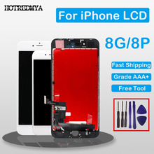 LCD Screen For iPhone 8 8 Plus LCD Display Digitizer Touch Screen Full Assembly Replacement 3D touch No Dead Pixel with Gifts недорго, оригинальная цена