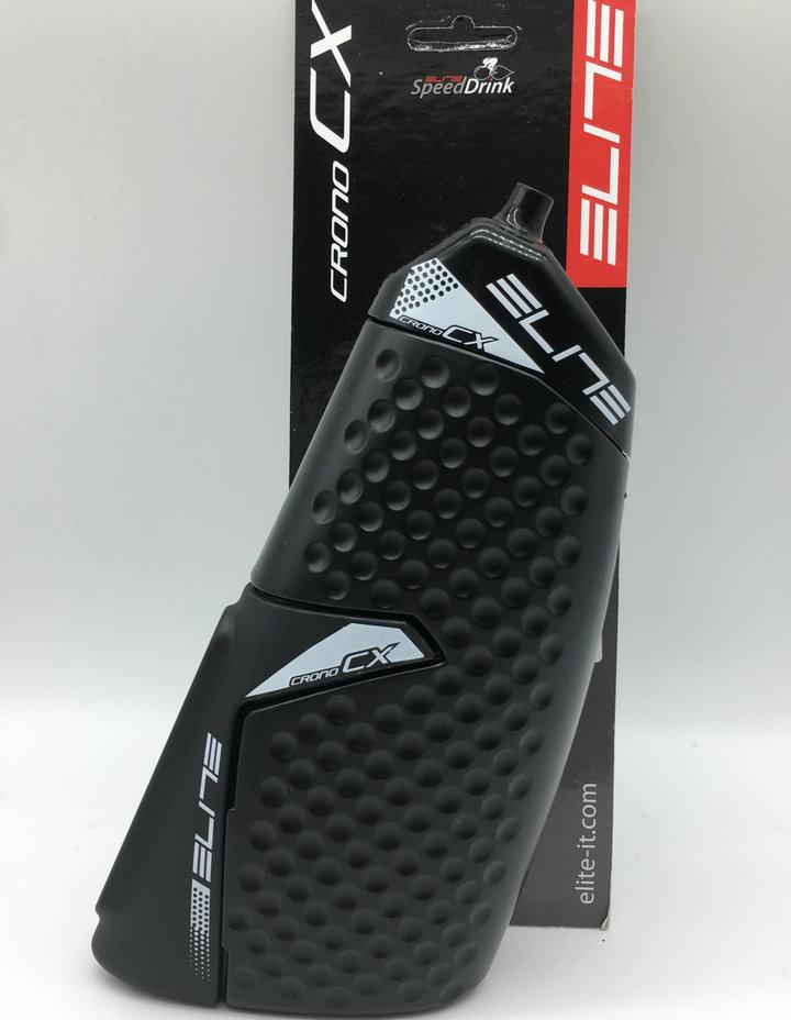 Shimano Elite Kit Crono Cx TT Tri Aero Water Bottle + Water Bottle Cage 500ml Carbon Fiber / Glass Fiber