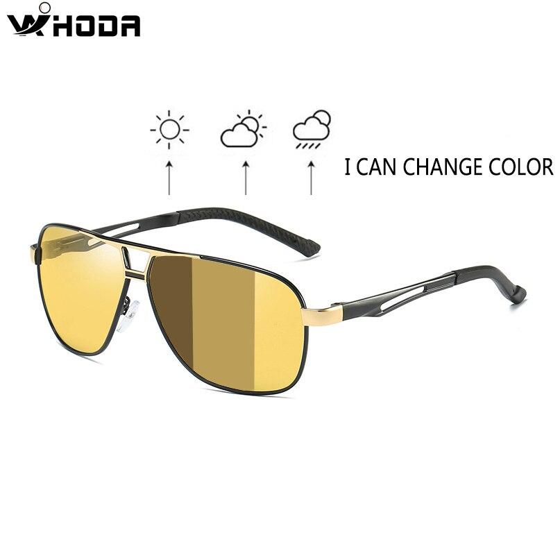 Driving Sunglasses Night-Vision Polarized Day Al-Mg Men Discolored Intelligent-Photochromic