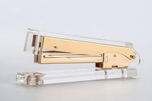 Image 2 - Akrylowe złote nożyczki i zszywacz wysokiej jakości akrylowe zszywacze