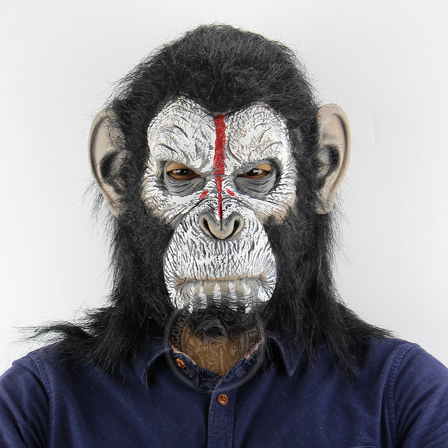 2018 Orangutan Headdress Halloween Horror Scary Animal Monkey Mask Festive Atmosphere For Party Festival