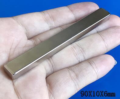 2PCS  90x10x6mm Super strong neo neodymium magnet 90x10x6, NdFeB magnet 90*10*6mm, 90mm x 10mm x 6mm magnets 90mmx10mmx6mm 6 90