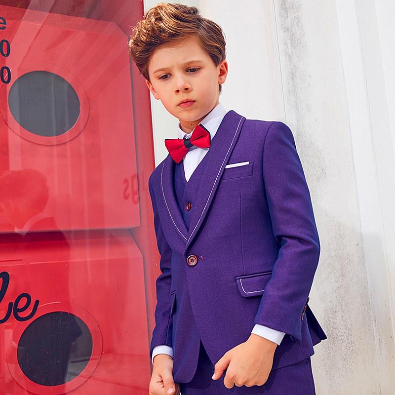 Formal para o Crianças Meninos Blazer Meninos Azul