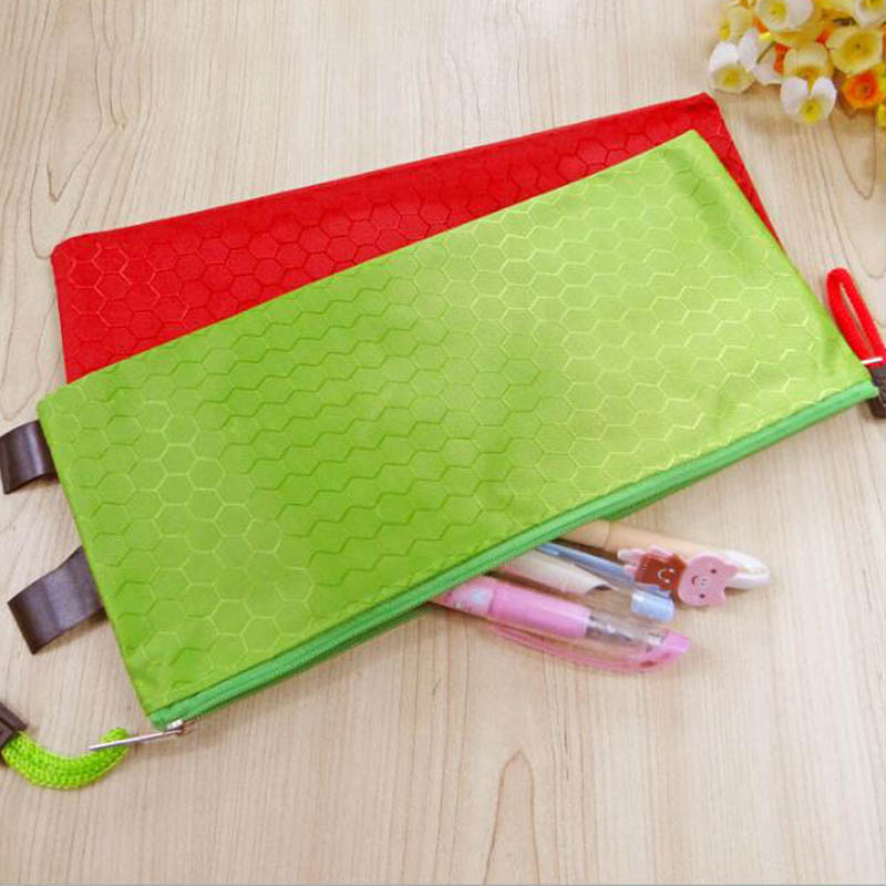 1PCS A4 A5 A6 B5 Oxford Brass File Bag Student Gift Pencil Case File Bag Stationery Storage Bag Office&School Supplies