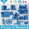 Colorful Reprap Prusa i3 Rework 3D Printer PLA Required PLA Plastic Parts Set Printed Parts Kit ,Prusa Mendel i3 Free Shipping