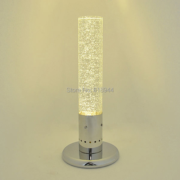 Фото Modern LED Crystal Stainless Steel Table Lamp Lamparas Table Lamps for Bedroom Lampe Deco Bedside Lamp Modern Bedroom Lampshades. Купить в РФ
