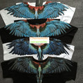 Fashion brand t shirt men summer marcelo burlon 3d blue wing short sleeve T-shirt men women cotton tee shirts tops