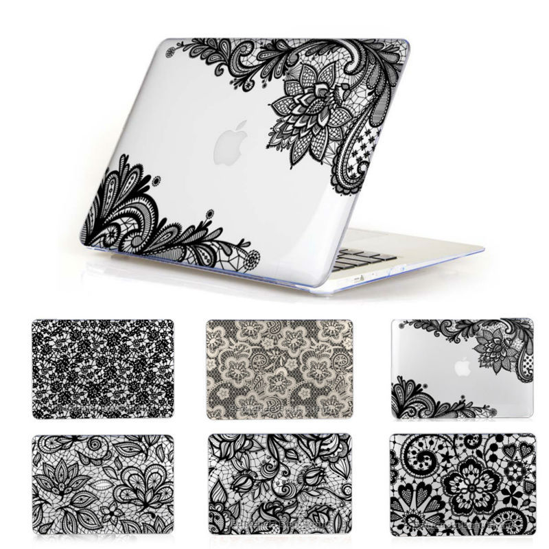 Macbook Air Cover Pattern ~ Lace pattern crystal clear cover case for apple macbook