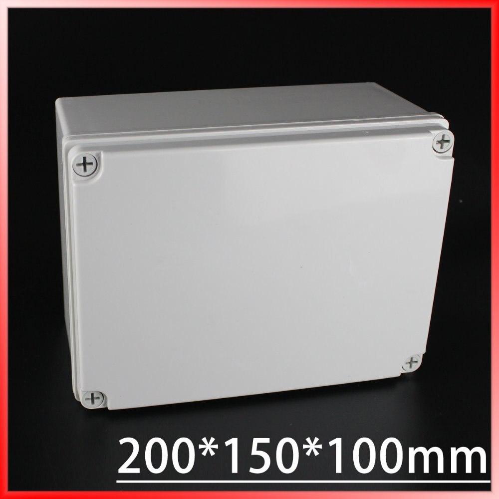 цена на 200*150*100MM IP67 Waterproof Plastic Electronic Project Box w/ Fix Hanger Plastic Waterproof Enclosure Box Housing Meter Box