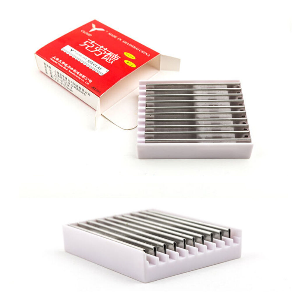 10PCS Replacement Hairdressing Hair Shaving Cutting Styling Razor Blades