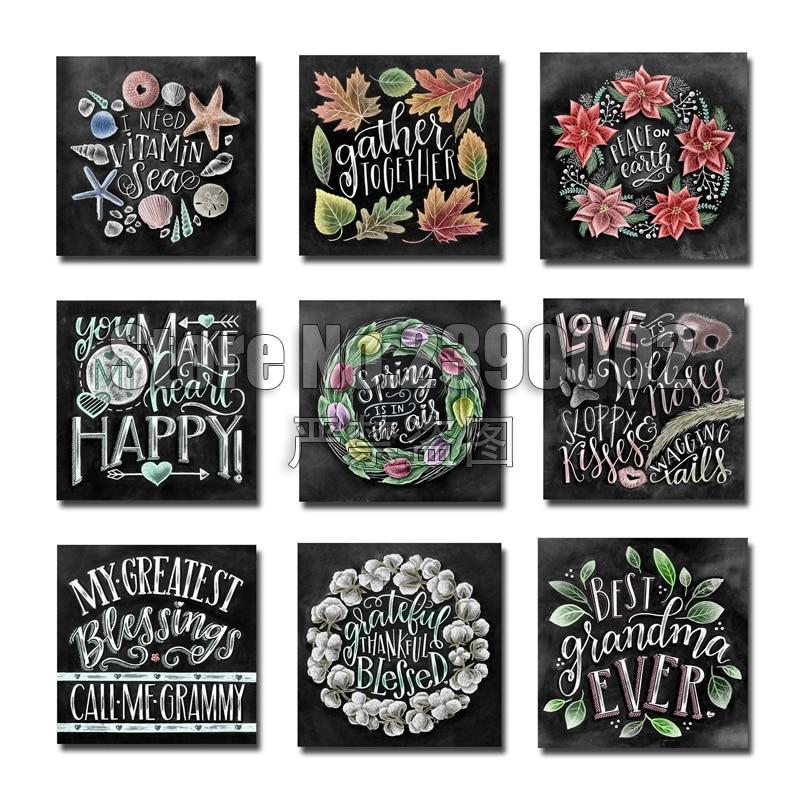 Flower Wall Decor Reversible Mosaic With Chalkboard: Aliexpress.com : Buy Full 5D Diamond Embroidery Chalkboard
