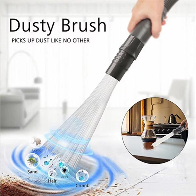 Universal Dust Cleaner Remover Household Straw Tubes Dust Brush Portable Vacuum Attachment Dirt Brush for Air Vents Keyboards