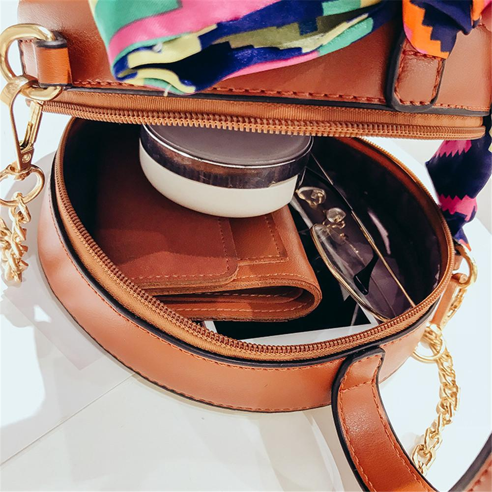 New Straw Small Round Bags Fashion Handbag Streamer Shoulder Messenger Beach Scarves Clutches Top Handle Handbags Bag Women Girl in Shoulder Bags from Luggage Bags