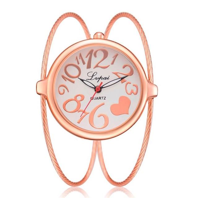 clock female watch Women's Casual Quartz Bracelet Watch Analog Wrist watch for women free shipping dameshorloge reloj mujer