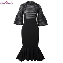 African-Dresses Outfit Mermaid-Robe Gown Aovica Women for Maxi Long Elegant Lady