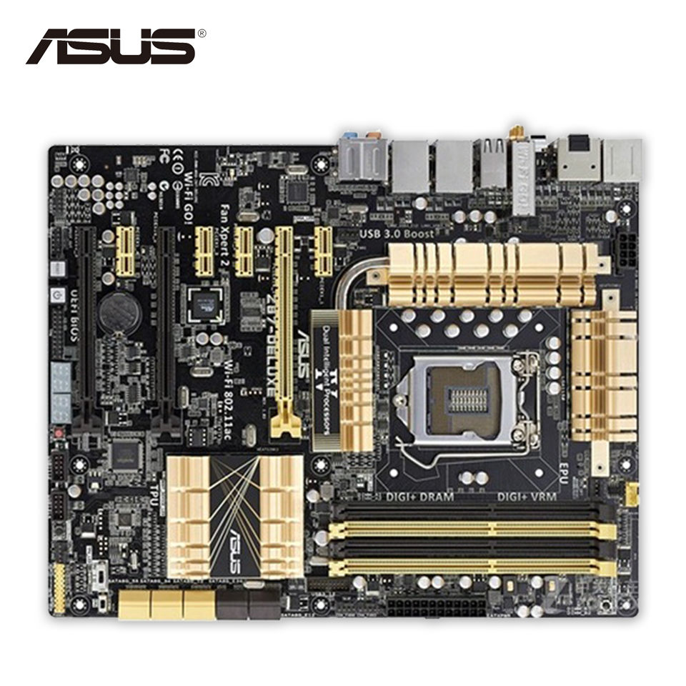 все цены на Asus Z87-Deluxe Desktop Motherboard Z87 Socket LGA 1150 i7 i5 i3 DDR3 32G SATA3 USB3.0 ATX Second-hand High Quality онлайн
