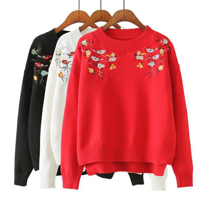 In the spring of 2017 winter of the new garment original art exquisite embroidery joker knit