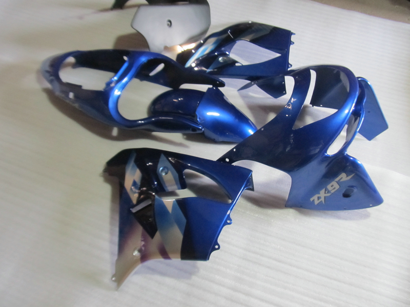 ABS motorcycle parts for Kawasaki ZX9R 1998 1999 NINJA Fairing kits ZX9R 98 99 black blue fairings set SZ28