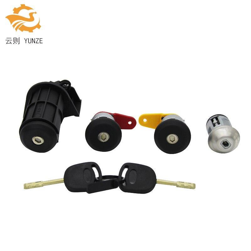 Komple kilit seti kontak anahtarı sol sağ kapı kilidi bagaj kilidi FORD KA için FIESTA kurye ESCORT