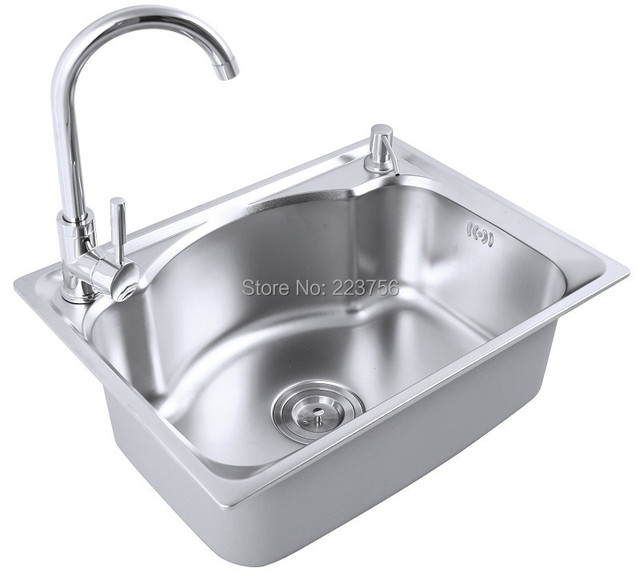 Italian custom size single bowl kitchen sink cheap above counter ...