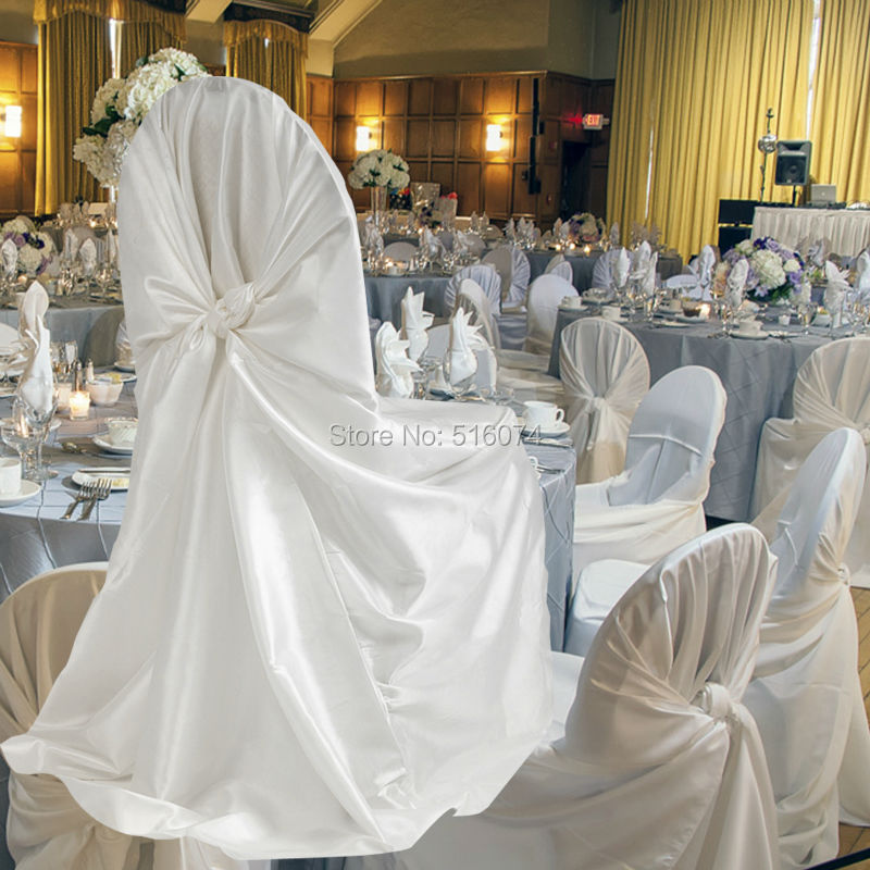 Chair Covers For Weddings Wheelchair Killer Wholesales 10pcs Satin Hoods 21 Colors Self Tie Getsubject Aeproduct