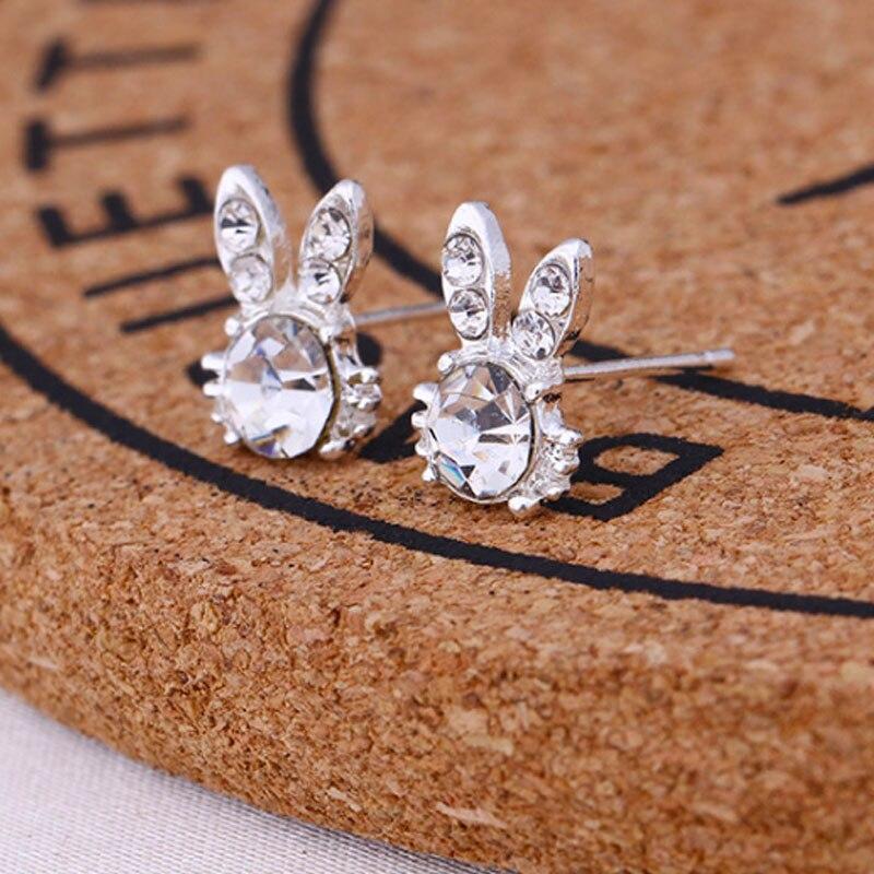 1 пара модные мульти-стиль Симпатичные Кристалл животных новый Для женщин жемчуг Серьги-гвоздики сплав Кролик Обувь для девочек Серьги пода…
