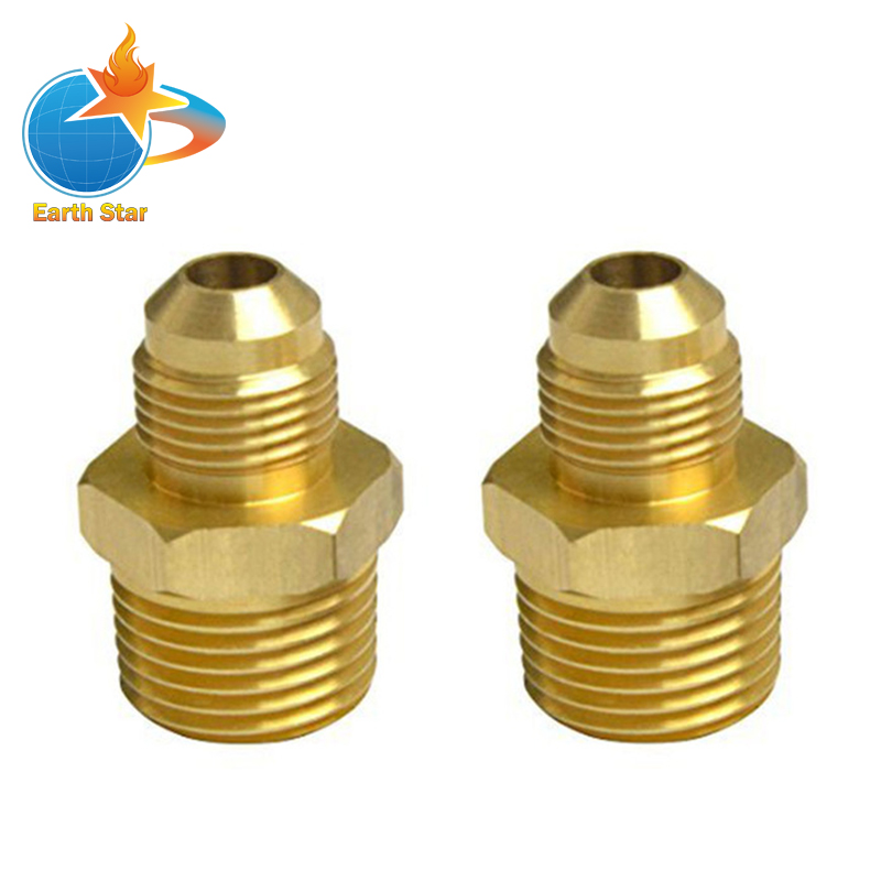 2 PCS Compression  Metals Brass Couples Tube Fitting, Half-Union Gas Adapter, 3/8 Flare x 1/2 Male Pipe 50pcs brass pipe fitting hex nipple joint 1 81 4x1 81 43 8x1 83 8x1 4 npt male thread plumb water gas connector accessory