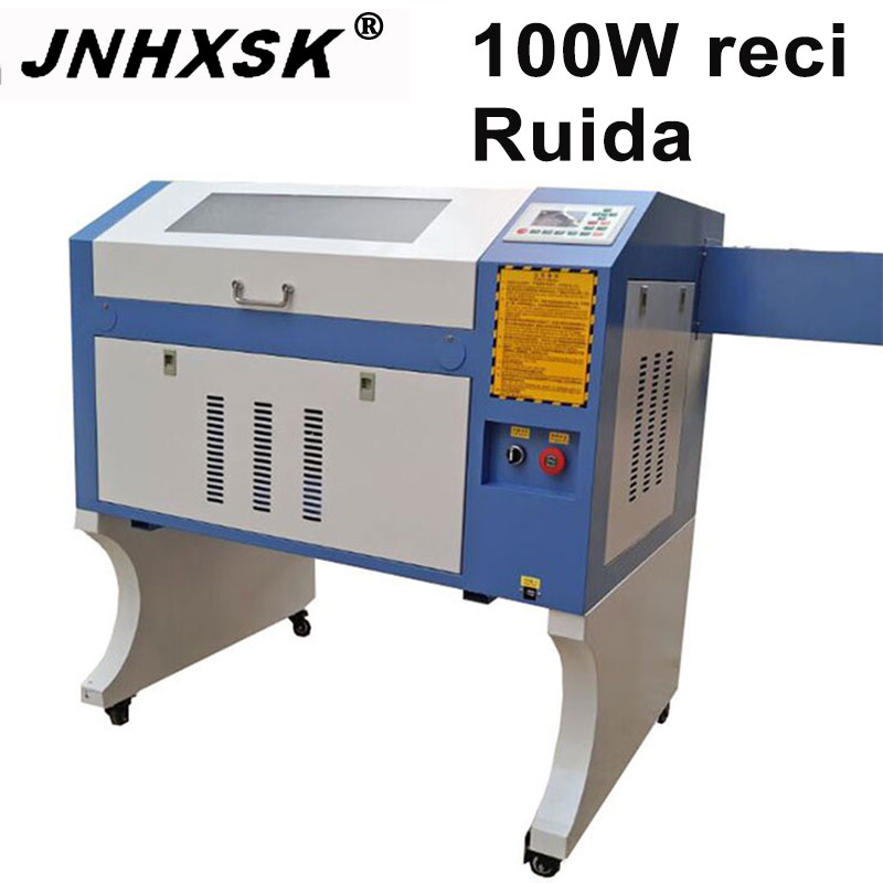 JNHXSK 100W W2 Reci Co2 Laser Cnc 4060 Laser Engraving Cutter Machine Laser Marking Machine Mini Laser Engraver Cnc Router Diy
