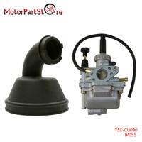 New Intake Manifold with Carb Carburetor for SUZUKI LT80 LT 80 QUADSPORT ATV 87 06 D5