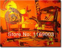 Cheap Abstract modern canvas knife paint famous artist handmade oil painting on canvas for living room wall office decoration