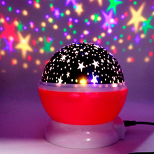 цена на Led Night Lamp Stars Starry Sky LED Night Light Projector Moon Novelty Table Night Lamp Battery USB Night Light For Children