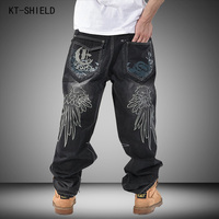 Brand Men Baggy Jeans Denim Loose Washing Jeans Men Hip Hop Biker Jeans Long Skateboard Relaxed