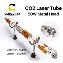 Cloudray Co2 Laser-schlauch Metall Kopf 800 MM 50 Watt Glas Rohr für CO2 Lasergravur Schneidemaschine