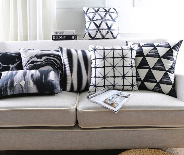 Buy black and white cushion cover retro - Fodere cuscini divano ...