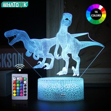Creative 3D Dinosaur LED Night Light Touch Remote Table Desk Lamp Home Decor Holiday Christmas Party Gifts for Children Kids Toy led night lamp decorate dream bluetooth voice speaker christmas ever fresh flower creative music box rechargable desk light gift