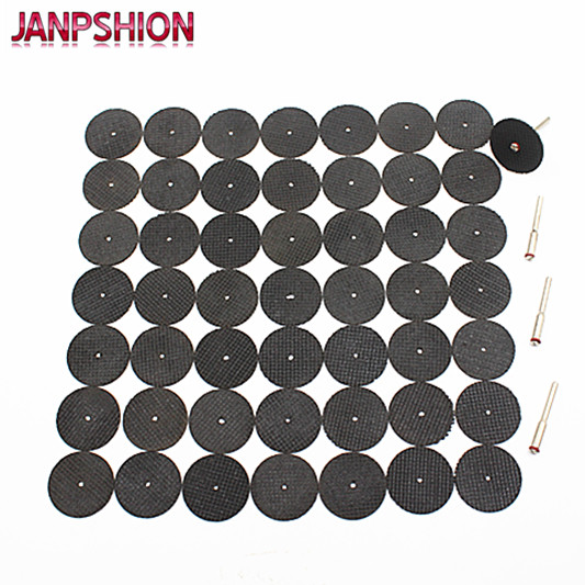 50PC  Abrasive Tools Fiberglass Reinforced Cutting Disc Cut Off Wheel With 4 Mandrels Fit Dremel Rotary Tool Accessories