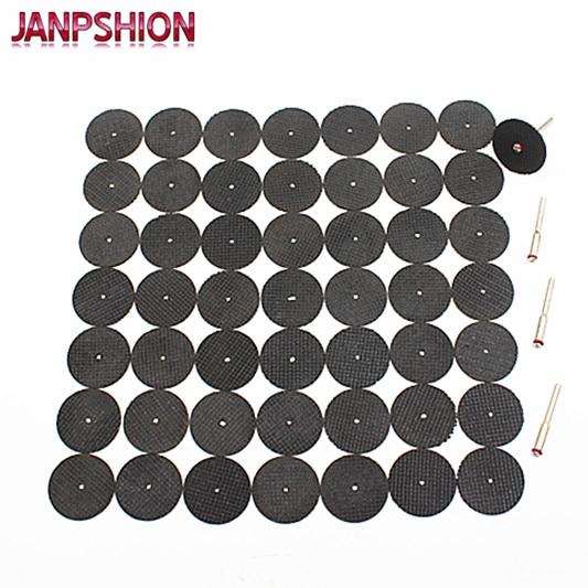 Disco abrasivo rinforzato con fibra di vetro per utensili abrasivi 50PC Ruota tagliata con 4 mandrini Accessori per utensili rotanti Dremel