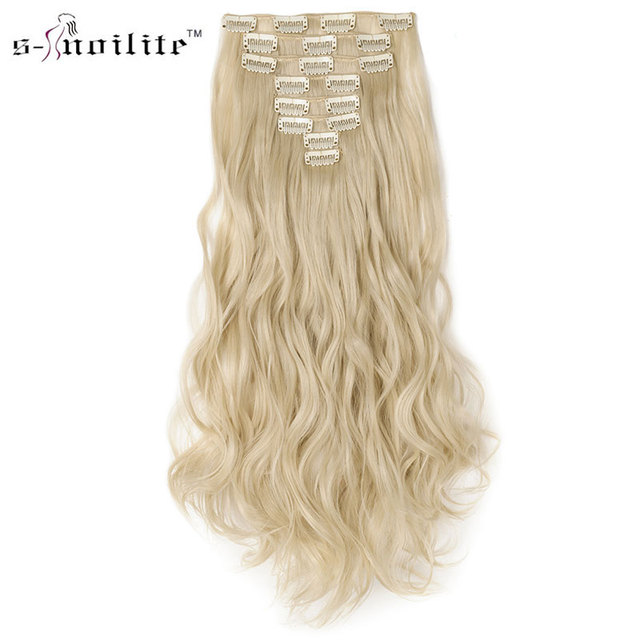 Snoilite 8pcsset Women Curly 18 Clips In Hair Extensions Clip Hair