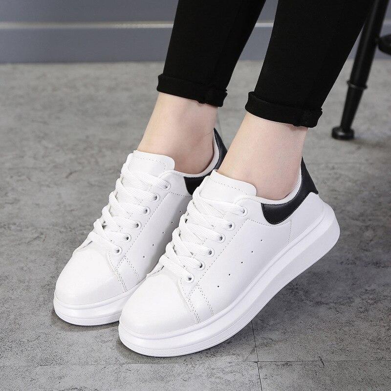 Women Flats Fashion White Sneakers