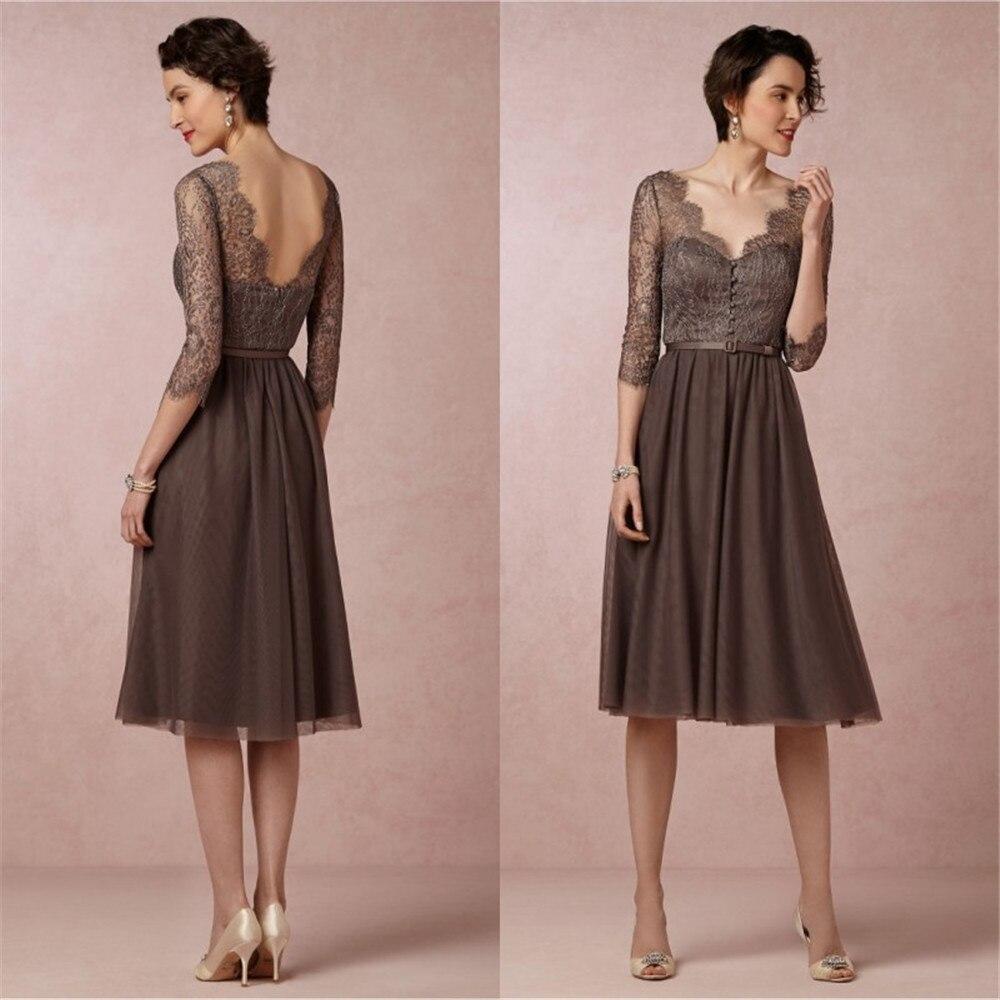 De alta calidad a corto vestidos de coctel elegantes sexy con cuello en v rodill