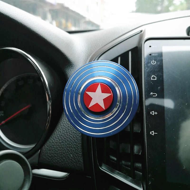 Mão Spinner Refrogerador Clipe Estilo Do Carro Perfume De Ar Condicionado Ventilação Fãs de The Avengers Spiderman Ironman Capitão
