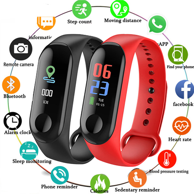 New Color Screen Smart Watch Sport Fitness Bracelet IP68 Waterproof Blood Pressure Oxygen Activity Tracker For Men Women Watch(China)