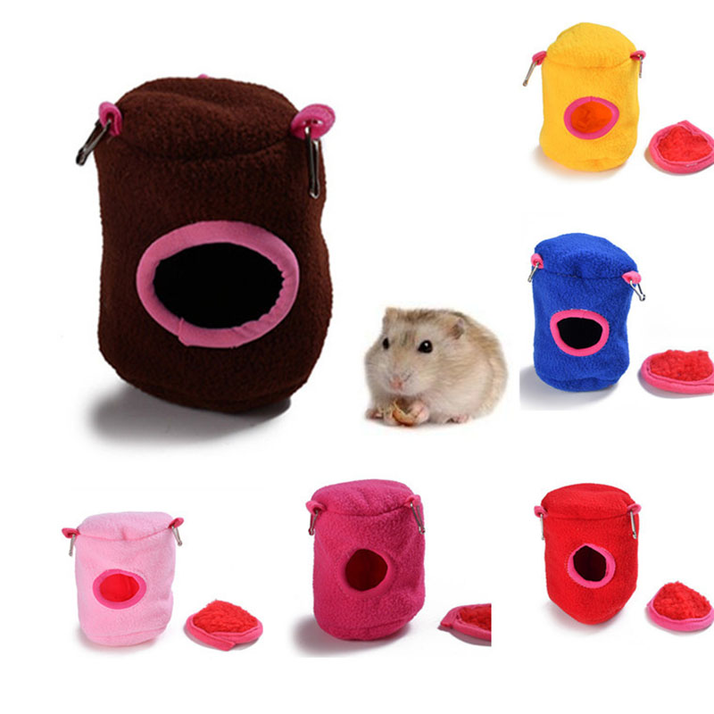 Plush Small font b Pet b font House Squirrel Hamster Cage Hammock Hanging Tree Beds Guinea