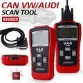 Горячие Продажи KW809 OBD2/EOBD Универсальный Автомобиль Авто Шины Тележка диагностический Сканер тестер decoder Card Reader Для VW Audi Skoda