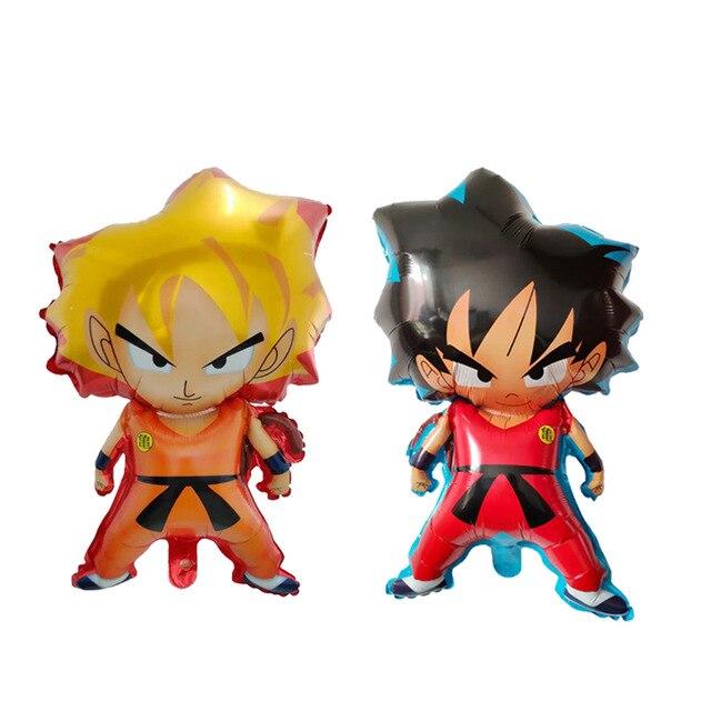 50pcs 78 45cm WuKong Son Goku 7 Dragon Balloons Boy Birthday Party Superhero Decor Supplies Air