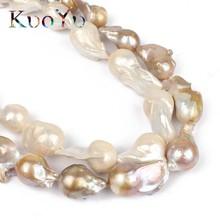 """14 28mm 100% Natürliche Große, Unregelmäßige Barock Perle Süßwasser Perlen Hohe Qualität Für Armband Halskette DIY Schmuck Machen 15 """"weiß"""