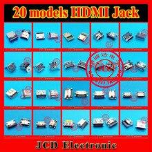HDMI Conector de $ number pines para tablet pc teléfono móvil laptop notebook 20 modelos 19 P hdmi conector
