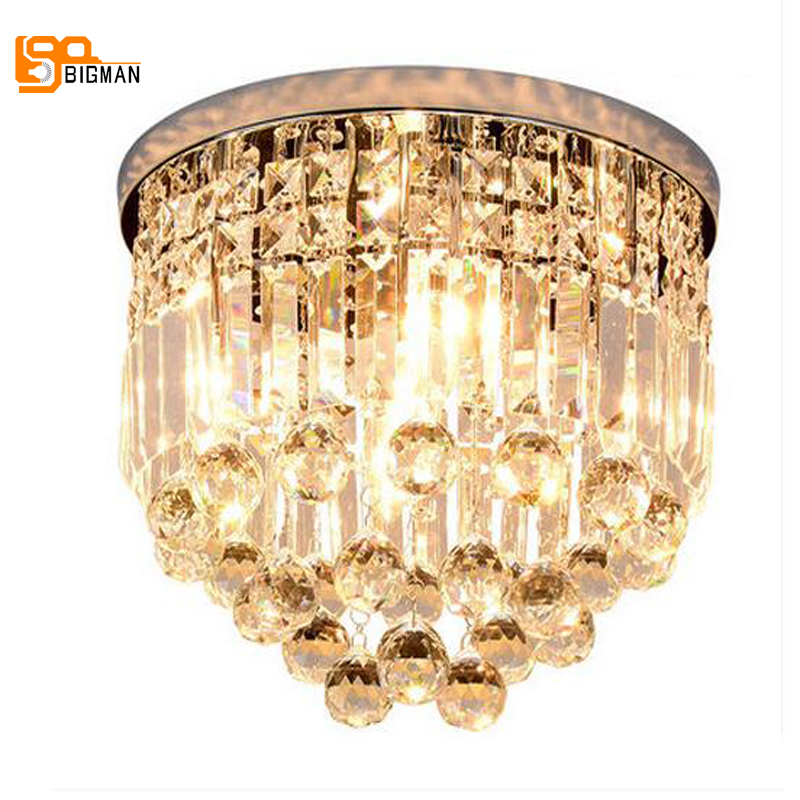 hot selling crystal ceiling lamps modern living room bedroom LED ceiling light lustre cristal hallway lighting noosion modern led ceiling lamp for bedroom room black and white color with crystal plafon techo iluminacion lustre de plafond